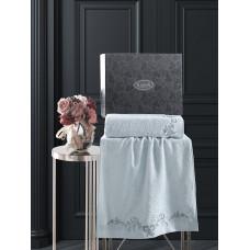 Комплект махровых полотенец  c гипюр