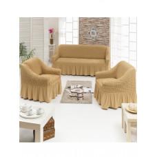 Чехол д/мягкой мебели 3-х пр.(3+1+1) JUANNA - медовый