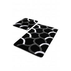Коврик для ванной DO&CO (60Х100 см/50x60 см) ELEGANT - чёрный